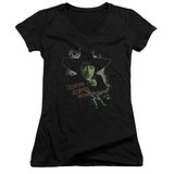 Wizard of Oz And Your Little Dog Too Junior Women's T-Shirt V Neck Black