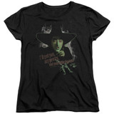 Wizard of Oz And Your Little Dog Too S/S Women's T-Shirt Black