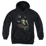 Wizard of Oz And Your Little Dog Too Youth Pullover Hoodie Sweatshirt Black