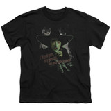 Wizard of Oz And Your Little Dog Too S/S Youth 18/1 T-Shirt Black