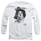 Wizard of Oz Brainless Long Sleeve Adult 18/1 T-Shirt White