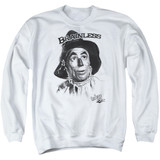 Wizard of Oz Brainless Adult Crewneck Sweatshirt White