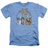Wizard of Oz We're Off To See Wizard Adult T-Shirt Heather Light Blue