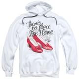 Wizard of Oz Ruby Slippers Adult Pullover Hoodie Sweatshirt White