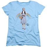 Wizard of Oz Over The Rainbow S/S Women's T-Shirt Light Blue