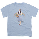 Wizard of Oz Over The Rainbow S/S Youth 18/1 T-Shirt Light Blue