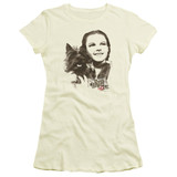 Wizard of Oz Dorothy & Toto S/S Junior Women's T-Shirt Sheer Cream
