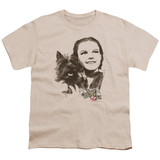 Wizard of Oz Dorothy & Toto S/S Youth 18/1 T-Shirt Cream