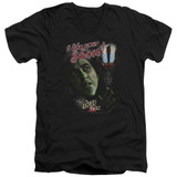 Wizard of Oz I Like Your Shoes S/S Adult V Neck 30/1 T-Shirt Black