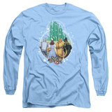 Wizard of Oz Emerald City Long Sleeve Adult 18/1 T-Shirt Carolina Blue