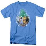 Wizard of Oz Emerald City S/S Adult 18/1 T-Shirt Carolina Blue