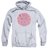 Willy Wonka and the Chocolate Factory Circle Logo Adult Pullover Hoodie Sweatshirt Athletic Heather