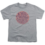 Willy Wonka and the Chocolate Factory Circle Logo S/S Youth 18/1 T-Shirt Athletic Heather