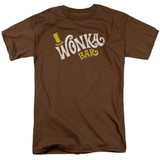 Willy Wonka and the Chocolate Factory Wonka Logo S/S Adult 18/1 T-Shirt Coffee