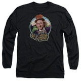 Willy Wonka and the Chocolate Factory It's Scrumdiddlyumptious Long Sleeve Adult 18/1 T-Shirt Black