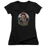 Willy Wonka and the Chocolate Factory It's Scrumdiddlyumptious Junior Women's T-Shirt V Neck Black