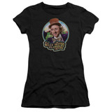 Willy Wonka and the Chocolate Factory It's Scrumdiddlyumptious Premium S/S Junior Women's T-Shirt Sheer Black