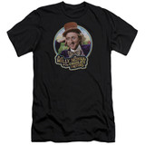 Willy Wonka and the Chocolate Factory It's Scrumdiddlyumptious Premium S/S Adult 30/1 T-Shirt Black