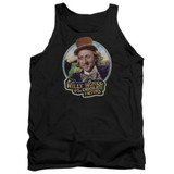 Willy Wonka and the Chocolate Factory It's Scrumdiddlyumptious Adult Tank Top Black