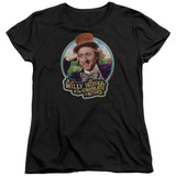 Willy Wonka and the Chocolate Factory It's Scrumdiddlyumptious S/S Women's T-Shirt Black