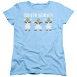 Willy Wonka and the Chocolate Factory Oompa Loompa S/S Women's T-Shirt Light Blue