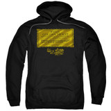 Willy Wonka and the Chocolate Factory Golden Ticket Adult Pullover Hoodie Sweatshirt Black