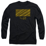 Willy Wonka and the Chocolate Factory Golden Ticket Long Sleeve Adult 18/1 T-Shirt Black