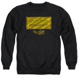Willy Wonka and the Chocolate Factory Golden Ticket Adult Crewneck Sweatshirt Black