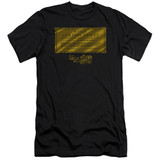 Willy Wonka and the Chocolate Factory Golden Ticket Premium S/S Adult 30/1 T-Shirt Black