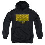 Willy Wonka and the Chocolate Factory Golden Ticket Youth Pullover Hoodie Sweatshirt Black