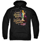 Willy Wonka and the Chocolate Factory Music Makers Adult Pullover Hoodie Sweatshirt Black