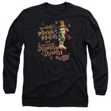 Willy Wonka and the Chocolate Factory Music Makers Long Sleeve Adult 18/1 T-Shirt Black