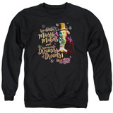 Willy Wonka and the Chocolate Factory Music Makers Adult Crewneck Sweatshirt Black