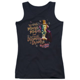 Willy Wonka and the Chocolate Factory Music Makers Junior Women's Tank Top Black