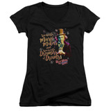 Willy Wonka and the Chocolate Factory Music Makers Junior Women's T-Shirt V Neck Black