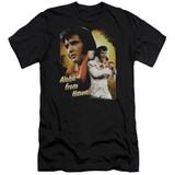 Elvis Presley Aloha Premuim Canvas Adult Slim Fit 30/1 T-Shirt Black