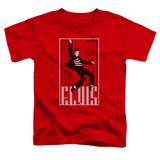 Elvis Presley One Jailhouse Toddler T-Shirt Red