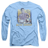 Elvis Presley Blue Hawaii Adult Long Sleeve T-Shirt Carolina Blue