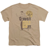 Sun Records Rock A Doodle Elvis S/S Youth 18/1 T-Shirt Sand