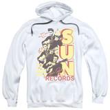 Sun Records Tri Elvis Adult Pullover Hoodie Sweatshirt White
