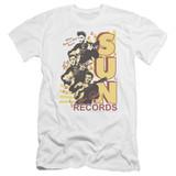 Sun Records Tri Elvis Premium Canvas Adult Slim Fit 30/1 T-Shirt White