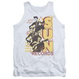 Sun Records Tri Elvis Adult Tank Top White