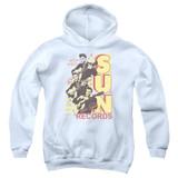Sun Records Tri Elvis Youth Pullover Hoodie Sweatshirt White