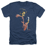 Elvis Presley Early Elvis Adult Heather T-Shirt Navy