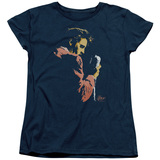 Elvis Presley Early Elvis Women's T-Shirt Navy