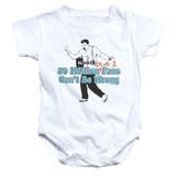 Elvis Presley 50 Million Fans Plus 1 Baby Onesie T-Shirt White
