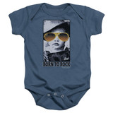 Elvis Presley Born To Rock Baby Onesie T-Shirt Indigo