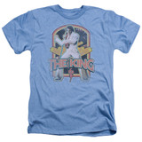Elvis Presley Distressed King Adult Heather T-Shirt Light Blue