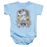 Elvis Presley Distressed King Baby Onesie T-Shirt Light Blue