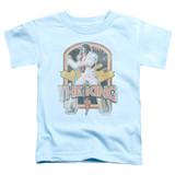 Elvis Presley Distressed King Toddler T-Shirt Light Blue